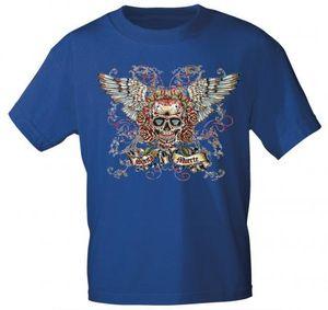 T-SHIRT Print Totenkopf Skull Santa Muerte - 10282 versch. Farben Gr. S-3XL Color - Royal Größe - 3XL