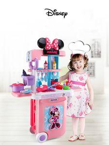 Minnie Mobile Küche 3 in 1 Kinder Trolley Koffer Rollenspiel Spielzeug pädagogisches Spielzeug Kinder Geschenk