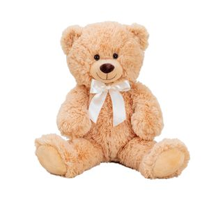 Teddybär hellbraun mit Schleife 56 cm Kuscheltier Teddy