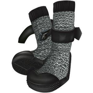 Trixie Hundeschuh Walker Socks schwarz-meliert/schwarz 2 St. XS