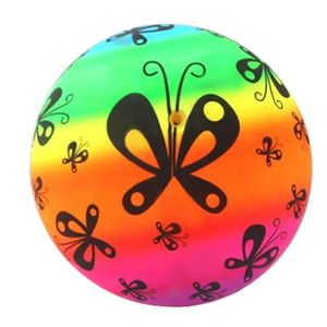 Kinder Spielball, Fußball Regenbogen 23 cm Ball Wasserball Strandball, PVC Soft Sports Ball Spielzeug
