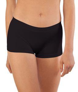 6er Pack Seamless Damen Panties Hipsters Boxershorts Perfekter Sitz sechs Farben, Größe:36/38, Farbe:Schwarz Set