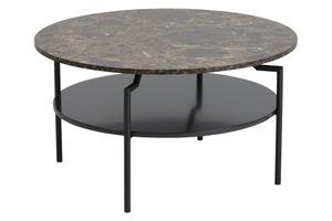 Couchtisch Goheen schwarz braun Marmorprint Sofa Wohnzimmer Tisch Beistelltisch