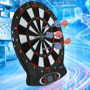 Elektronische Dartscheibe Dartboard Dartautomat Dartspiel Wurfspiel+ 6 Darts Dartspiel  LCD Score Display