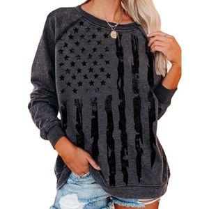 Damen Elements Casual Langarm Top Loses Sweatshirt T-Shirt,Farbe: Grau,Größe:M