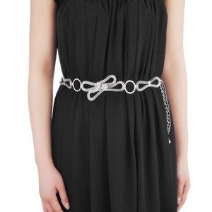 Damen taillengürtel silber Metallkette Taille Hüftgurt Körper Bauch Bikini Strand Silber
