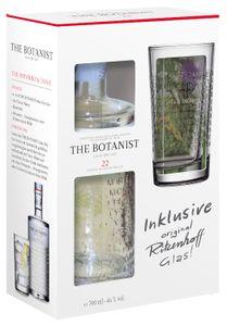 The Botanist Islay Dry Gin mit geprägtem Ritzenhoff Glas Geschenkpackung | 46 % vol | 0,7 l