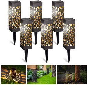 Speed 6x LED Solarleuchte ABS Gartenlampe Nacht-Beleuchtung Solarlampe Wasserdicht