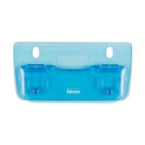 Locher Taschenlocher Blau Reiselocher Lineal mini flach abheftbar Pocket Perforator