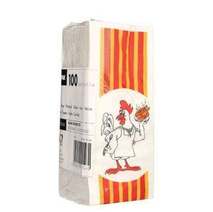 1000 tradingbay24 Hähnchenbeutel, Papier mit HDPE-Einlage 24 cm x 10,5 cm x 5,5 cm Max & Moritz 1/2 tbU90146 Hähnchentüten Warmhaltebeutel Halbes Hähnchen