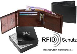 Geldbörse mit Riegel quer  RFID Schutz, Farben:schwarz