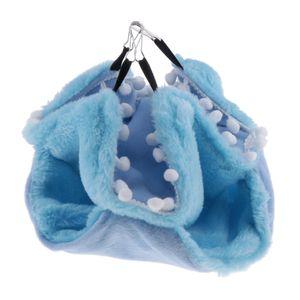 Kleine Tiere Gemütliche Hängematte Winter Warmes Nest Für Hamster Vögel Papagei Blau 22x22cm Hängematten-Stil Kleintier-Hängematte