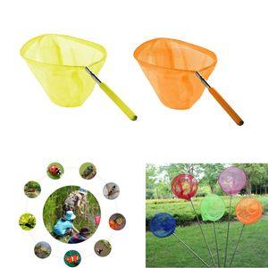 2er Pack Insektennetz Garten Fischernetz Schmetterling Netz Kescher Teleskopgriff für Kinder, aus Edelstahl