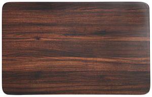 Kesper Frühstücksbrettchen Darkwood aus Melamin, 30 x 19 cm, Schneidebrett mit 4 Elastikfüßen, schnittfest, spülmaschinengeeignet, Schneidebrett Kunst