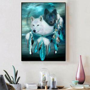 30 * 40CM 5D Wolf Traumfänger Diamond Painting DIY Diamant Kreuzstich Stickerei Malerei Bilder Home Wall Decor Geschenk Bastelset