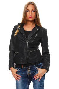 Only Jacke Freya Faux Leather Biker otw 15110802 schwarz, Größe:42