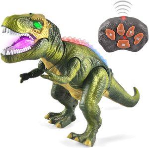 Kinder LED Ferngesteuertes Dinosaurier Spielzeug, Elektronik T-Rex Dino Spielzeug mit Gehen, Brüllen, leuchtenden Augen und Kopfschütteln für Kleinkinder Jungen Mädchen