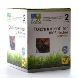 Laub & Schmutz Dachrinnenfilter für Fallrohre 2 Stück
