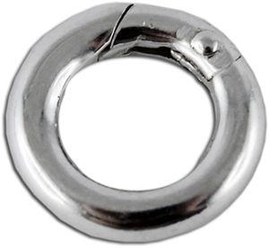 Schließe Sterling Silber 925 Karabiner Verschluss rund Ø 12mm