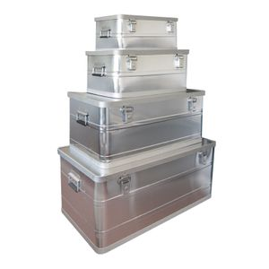 Aluboxen Werkzeugkisten Transportbox Transportkiste 4er Set 25 / 45 / 90 / 140 L