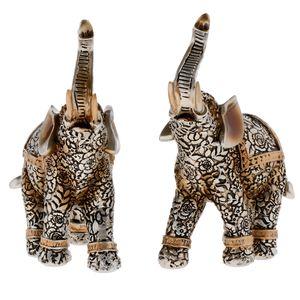 1 Paar Deko Figur Elefant Wohnzimmer Dekoration