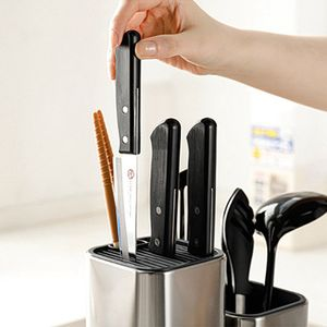 Messerständer Blockhalter Küchenmesser Rack Edelstahl Kochzubehör Messerblöcke