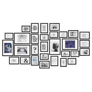 30tlg bomoe Emotion Bilderrahmen Set, color:Schwarz