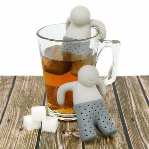 Teemännchen Set blau grau als Teezubehör Teefilter Tee Genuß Filter, mit professioneller Zertifizierung