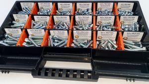 Zylinderschrauben Sortiment 375 Teile M4-M6 Schraubenset Sortimentsbox Schraubenkoffer