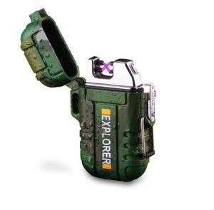 USB Feuerzeug I Akku I Elektro I Elektronisches Sturmfeuerzeug I Wasserdicht I inkl.Geschenkbox