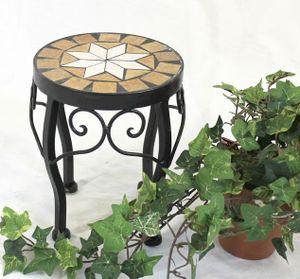 DanDiBo Blumenhocker Merano Mosaik 12014 Blumenständer 20 cm Hocker Rund Beistelltisch