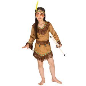 dressforfun Mädchenkostüm Indianerin Shania - 128 (8-10 Jahre)