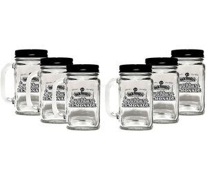 Jack Daniels Gläser Lynchburg Lemonaden Glas mit Deckel - 6er Set