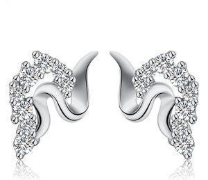 Edler Zirkonia Ohrstecker 925 Sterling Silber Cubic ZIrcon American Diamant Top