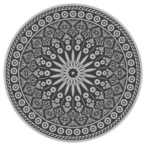 Esschert Design Outdoor-Teppich 170 cm Durchmesser