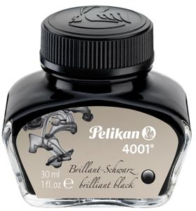 Pelikan Tinte 4001 im Glas brillant schwarz Inhalt: 30 ml