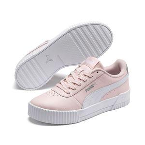 Puma CARINA L Jr Damen Mädchen Streetstyle Sneaker Rosewater Puma White, Größe:UK 51/2 - EUR 38.5 - 24.5 cm