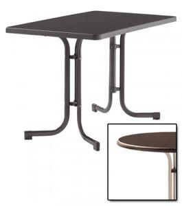 SIEGER Gartentisch / Klapptisch 115x70cm Stahl champ/Mecalit mocca