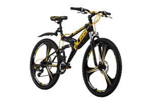Mountainbike Fully 26'' Bliss schwarz-gelb RH 47 KS Cycling