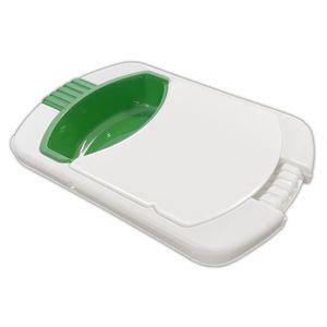 3in1 Kombi Schneidebrett Sieb Abfallschale Spülbecken Kunststoff Camping Küchenbrett Spüle Auffangschale Schneide Brett Brettchen Küchenbrett