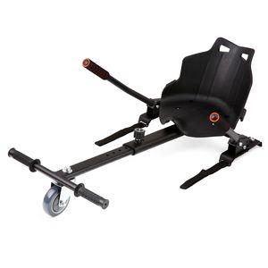 Crenex Kart-Erweiterung Hoverboard Sitz Hoverkart Sitzscooter für 6,5 , 8 und 10 Zoll  Hoverboards schwarz