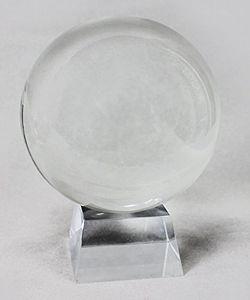 Kristallkugel Wahrsager Glaskugel mit Ständer transparent ø80mm