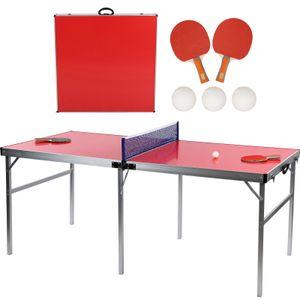 Alu Tischtennisplatte Tischtennis Platte Tischtennistisch Klappbar Mit Ballnetz Schläger Tischtennis 180x90x75cm für Draußen Drinnen
