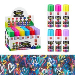 Kreidespray 24er Set im Display Sprühkreide Markierungsspray 6 verschiedene Farben wasserlöslich