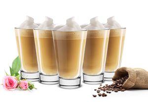 6 Latte Macchiato Gläser 310ml Kaffeegläser Teegläser Cocktailgläser Saftgläser Trinkgläser