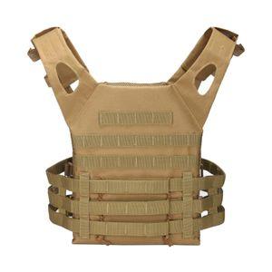 Militärische taktische weste molle platte träger angriffs weste für männer Farbe Khaki