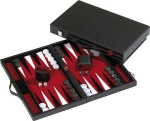 Philos 1720 - Backgammon rot, groß, Kunstleder 4014156017207
