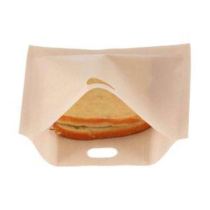 ALmi Wiederverwendbare Antihaft-Toaster-Beutel beschichtete Glasfaser Mikrowelle Heizung Geb?ck Toaster Brot Sandwich-Beutel