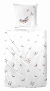 Primera Renfore Bettwäsche 155x220 cm Schmetterlinge aus Blumen Blüten 123063-9