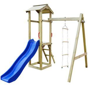 Spielturm mit Rutsche &Leitern 237×168×218 cm Holz